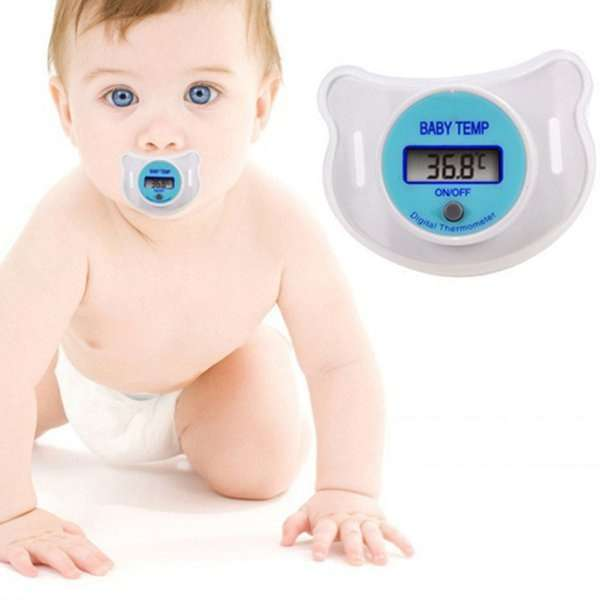 Infants LED Pacifier Thermometer Baby Health Safety Temperature Monitor Kids