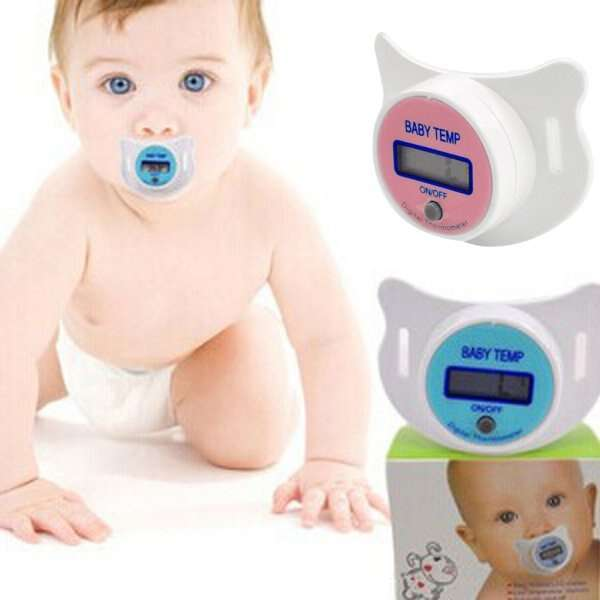 Infants LED Pacifier Thermometer Baby Health Safety Temperature Monitor Kids-2