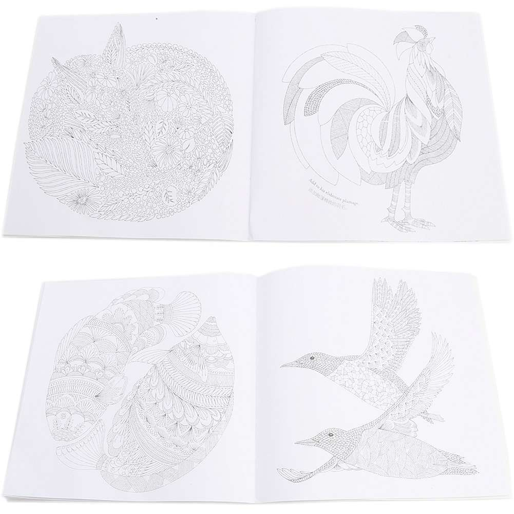 Children Adult Animal Kingdom Treasure Hunt Coloring Painting Book-6