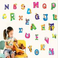 KwoM-A-Z Alphabet Animals Wall Sticker Decals Decor Kids Nursery Removable PVC Multicolor