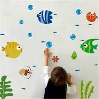 KyYh-Tropical Fish Bubble Wall Sticker Kids Room Nursery Kitchen Bathroom Wall Decal