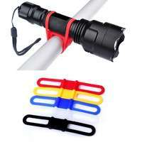 L62v-High Strength Silicone Phone Cycling Torch Flashlight Holder Bike Bicycle Light Straps Flexible Light Holder