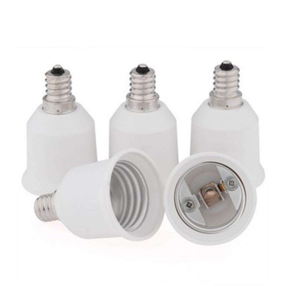 Base E12 To E27 Converter Adapter Socket LED Lamp Bulb Light-4