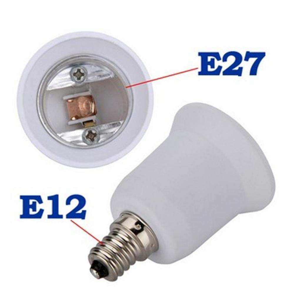 Base E12 To E27 Converter Adapter Socket LED Lamp Bulb Light-5