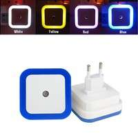 LeTP-EU Plug Mini LED 0.5W Night Light Control Auto Sensor Baby Bedroom Lamp Square LED Night Light