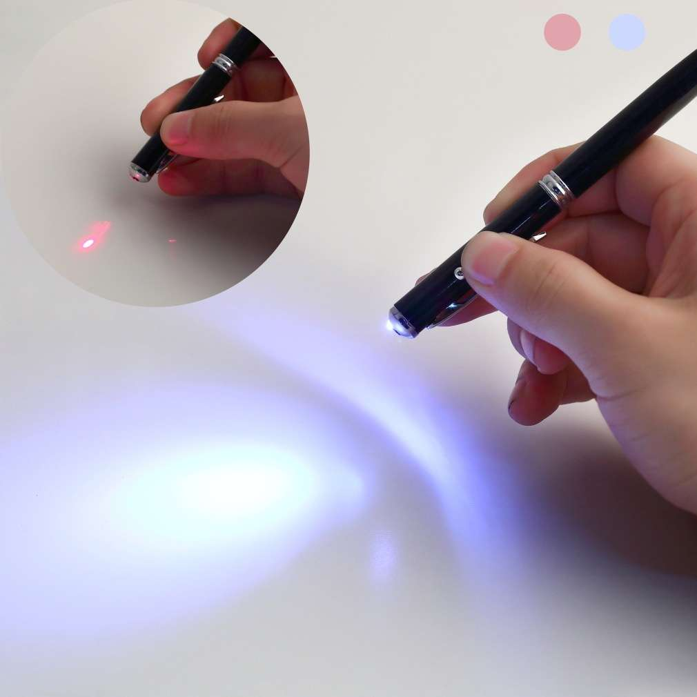 4in1 Laser Pointer LED Torch Touch Screen Stylus Ball Pen for Phone Pad-3