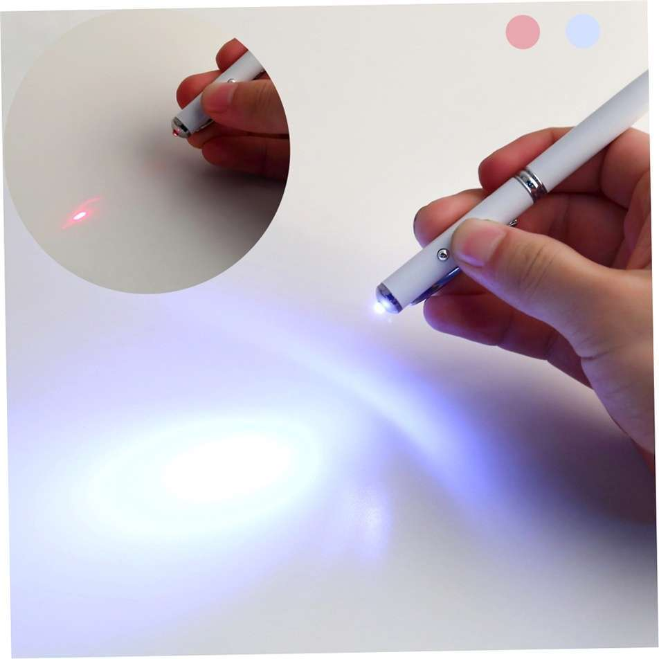 4in1 Laser Pointer LED Torch Touch Screen Stylus Ball Pen for Phone Pad-4