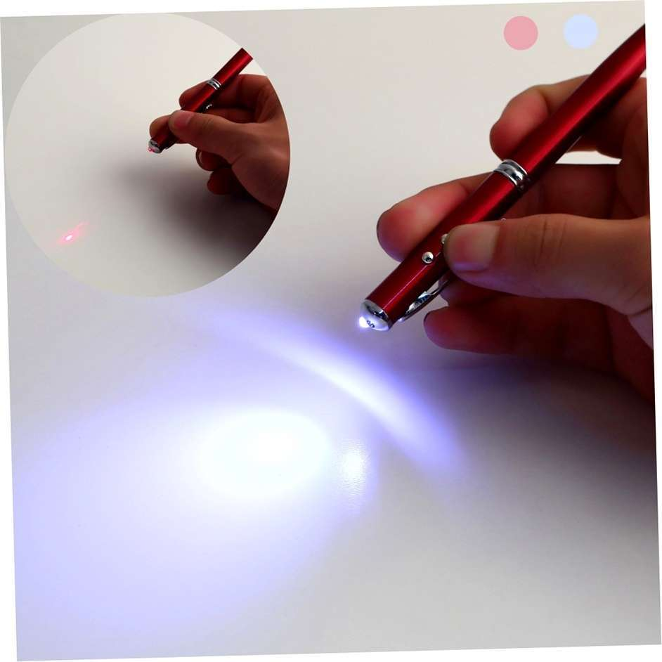 4in1 Laser Pointer LED Torch Touch Screen Stylus Ball Pen for Phone Pad-5
