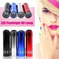 N3PQ-Mini LED Flashlight UV Lamp Nail Dryer Portable For Nail Gel 15s Fast Dry