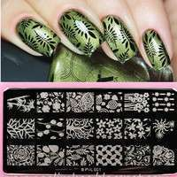 NEPd-Flowers & Leaves Nail Art Stamp Template Image Plate BORN PRETTY BP L001 12.5 X 6.5cm