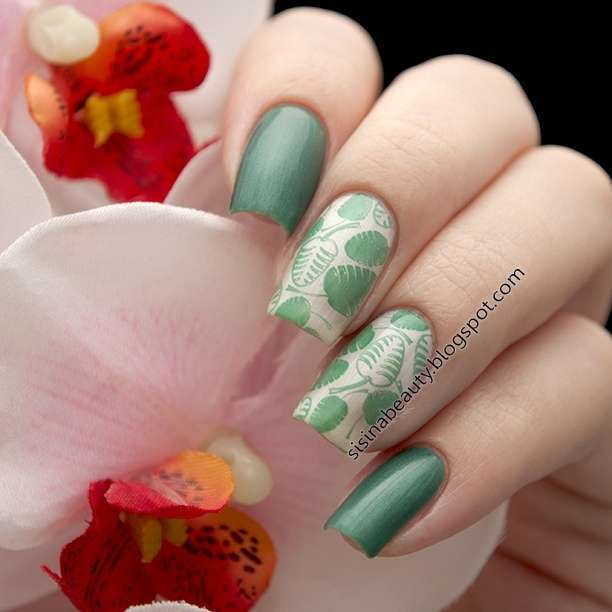 Flowers & Leaves Nail Art Stamp Template Image Plate BORN PRETTY BP L001 12.5 x 6.5cm-11