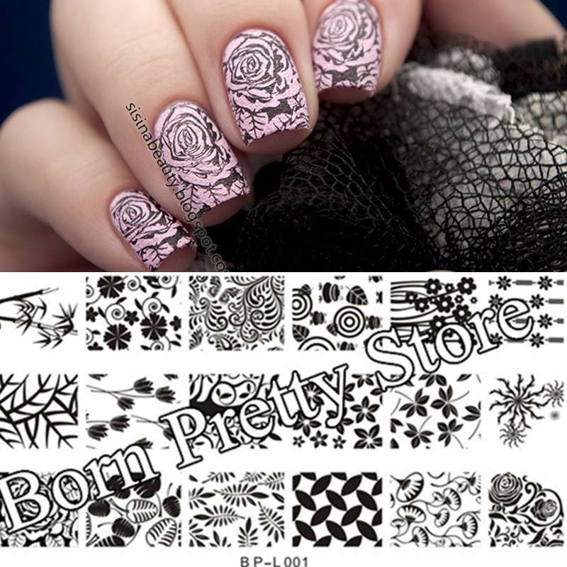 Flowers & Leaves Nail Art Stamp Template Image Plate BORN PRETTY BP L001 12.5 x 6.5cm-17