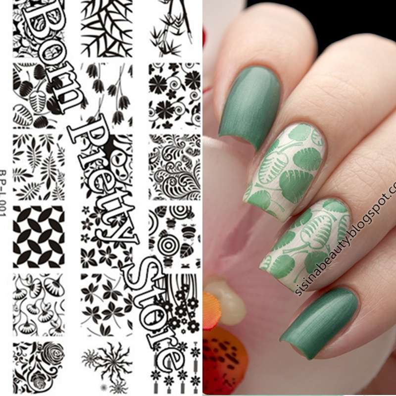 Flowers & Leaves Nail Art Stamp Template Image Plate BORN PRETTY BP L001 12.5 x 6.5cm-18