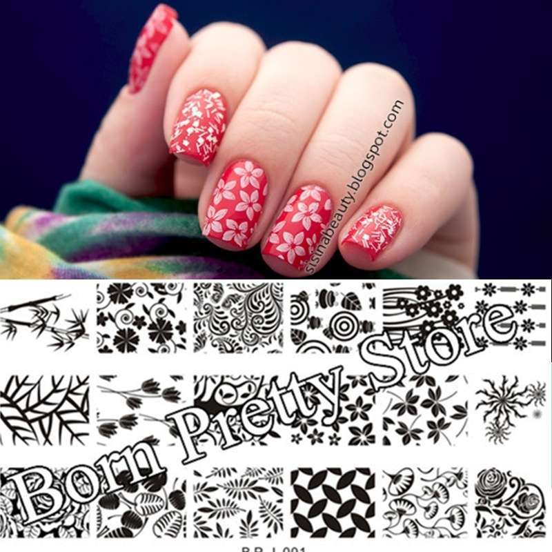 Flowers & Leaves Nail Art Stamp Template Image Plate BORN PRETTY BP L001 12.5 x 6.5cm-20