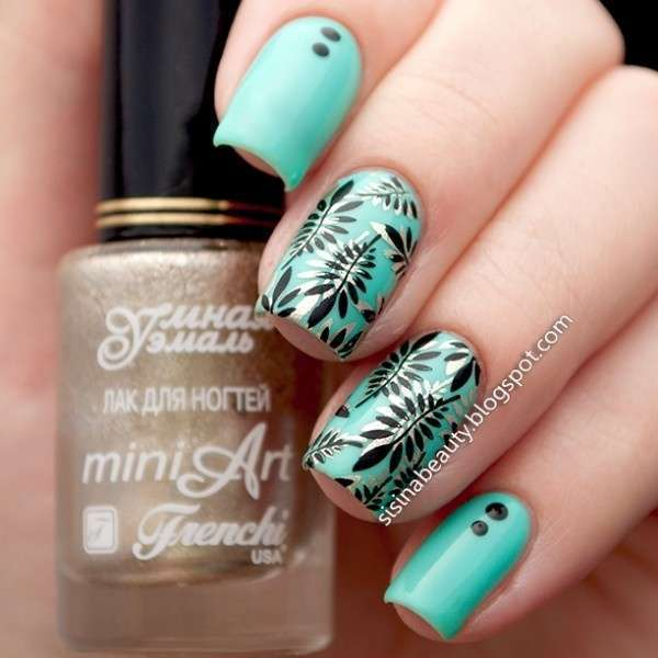 Flowers & Leaves Nail Art Stamp Template Image Plate BORN PRETTY BP L001 12.5 x 6.5cm-7