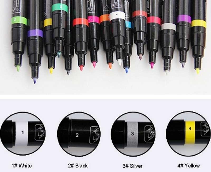 1 Pcs Non Toxic Nail Art Pens 16 Candy Colors For Nails Art Diy ...