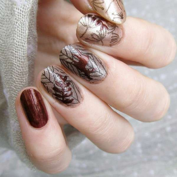Flower Vine Nail Art Stamp Template Leaves Image Plate 12.5 x 6.5cm-11