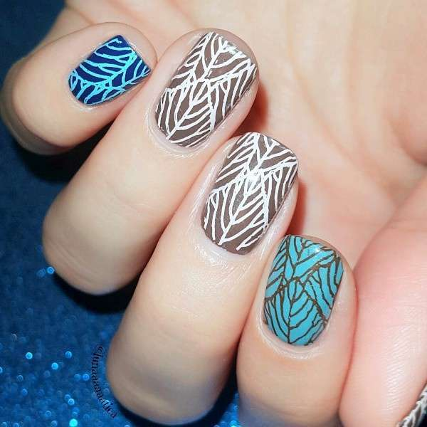 Flower Vine Nail Art Stamp Template Leaves Image Plate 12.5 x 6.5cm-12