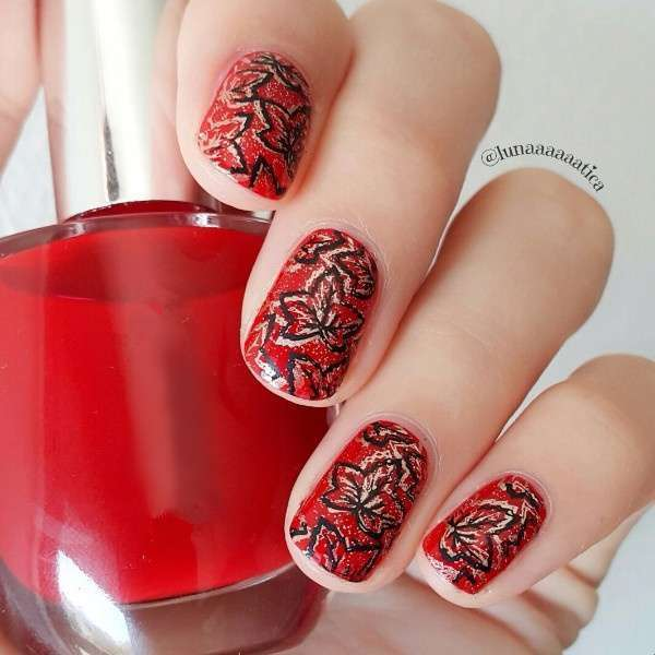 Flower Vine Nail Art Stamp Template Leaves Image Plate 12.5 x 6.5cm-13