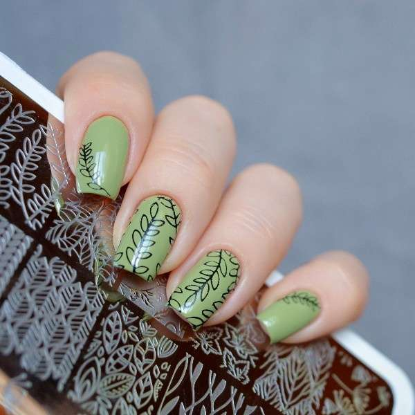 Flower Vine Nail Art Stamp Template Leaves Image Plate 12.5 x 6.5cm-14