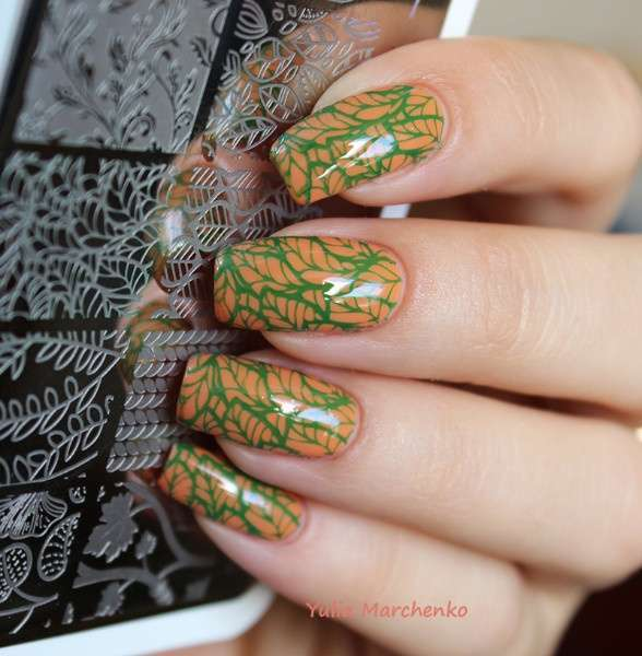 Flower Vine Nail Art Stamp Template Leaves Image Plate 12.5 x 6.5cm-4