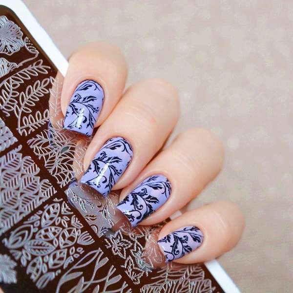 Flower Vine Nail Art Stamp Template Leaves Image Plate 12.5 x 6.5cm-6