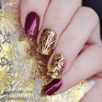 NaK3-1 Sheet Embossed Flower 3D Nail Stickers Blooming 3D Nail Art Decals BP052