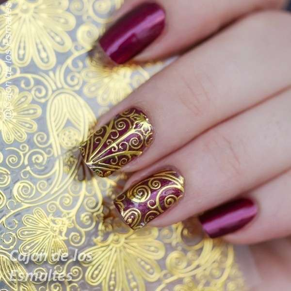 1 Sheet Embossed Flower 3D Nail Stickers Blooming 3D Nail Art Decals BP052-4