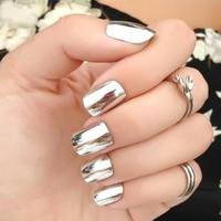Nd2y-New Gold Silver Nails Mirror Powder Nail Art Chrome Pigment Glitters