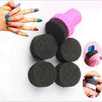 4PCS/Set Beauty Nail Sponges Manicure Sponge for Acrylic Manicure Gel Nail Art Care DIY UV Tool-3