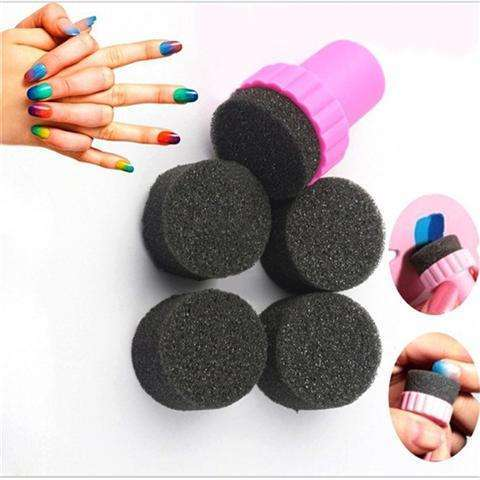 4PCS/Set Beauty Nail Sponges Manicure Sponge for Acrylic Manicure Gel Nail Art Care DIY UV Tool-2