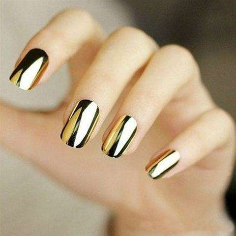 Smooth Nail Art Sticker Patch Foils Armour Full Self Adhesive Polish Tips Wraps DIY Decoration Black Gold Silver-3