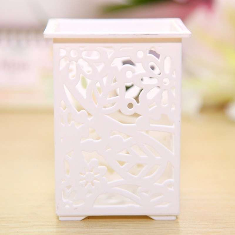 Floral Pencil Holder Desk Pen Containers Organizer Office  Plastic Pen Pot-5