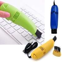O4h2-USB Vacuum Keyboard Cleaner Brush For PC Laptop Computer Air Fans Monitor Brush Random Color