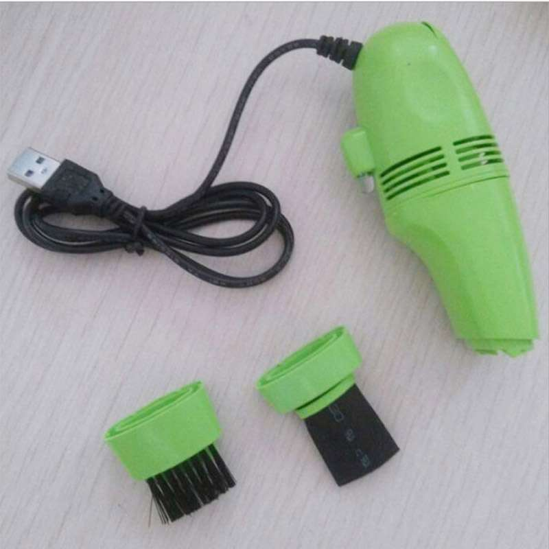 USB Vacuum Keyboard Cleaner Brush For PC Laptop Computer Air Fans Monitor Brush Random Color-4