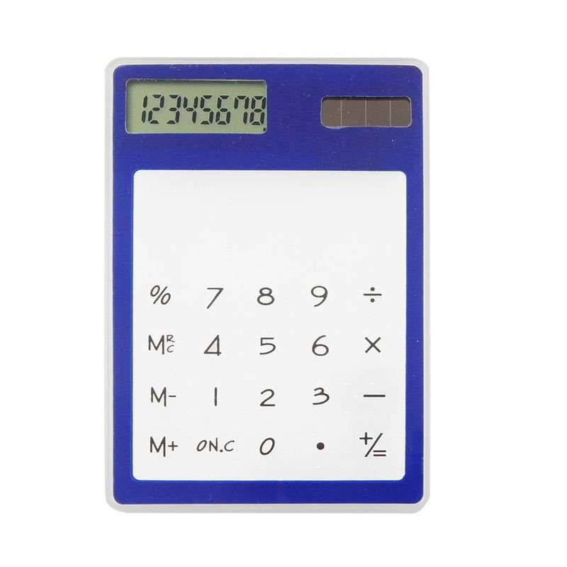 Transparent Calculator Ultra LCD Slim Solar Touch Screen 8 Digit Electronic-5