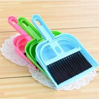 OQHv-Plastic Broom Sweeping Set Home Duster Brushes Housework Panels Brushes Pet Dustpan Supplies Mini Cleaning Tool