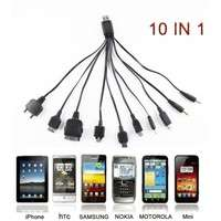 P8GB-1PC 10 In 1 Universal Charger Cable For Phone Multi USB Connected Cable