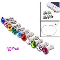 P9t3-10x Fashion Sparkling Diamond Dust Proof Plug Earphone Stopple Decor Ornament Bling Anti Dust 3.5mm Earphone Jack Plug Stopper