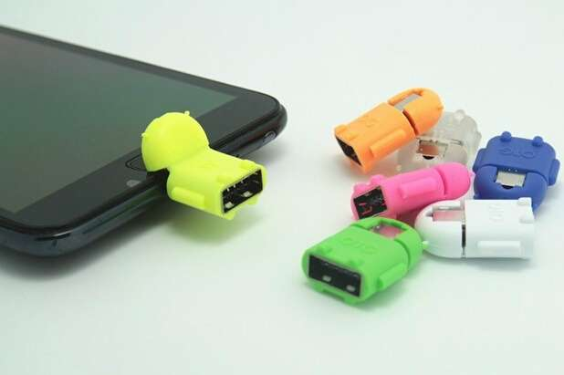 Micro usb to USB OTG adapter for Samsung Galaxy S2/S3/S4 for smartphone tablet pc to flash/mouse/keyboard-2