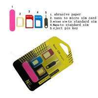 PClM-5in1 Nano SIM Card To Micro Standard Adapter Converter Set Kit For Phone6 5 4 Wonderful And Hot