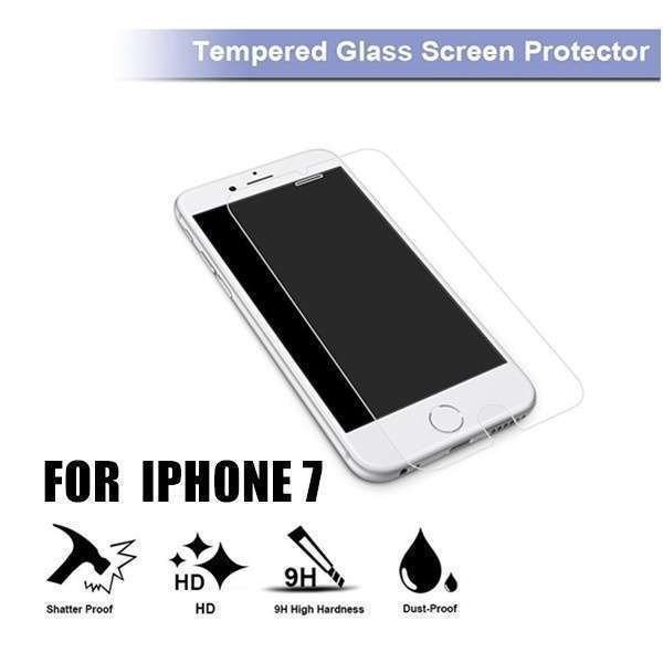 Iphone7 Tempered Glass Screen Protector, Ebestsale Premium 2.5D Round Edge 9H Hardness 0.3mm Thickness HD Clear Ballistic Film-1