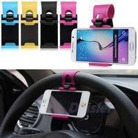PUG7-Universal Car Steering Wheel Bike Clip Mount Holder For IPhone For Cell Phones