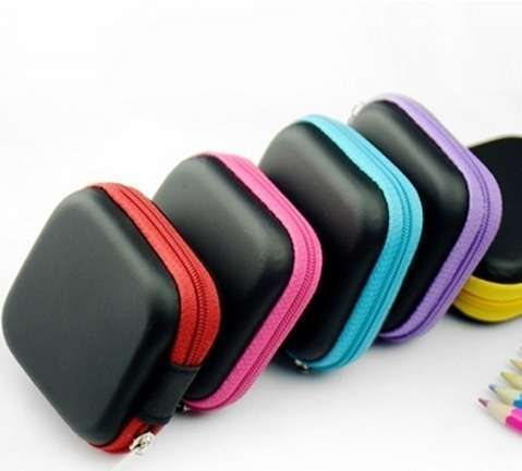Square Shape Headsets Receive Package PU Zipper Bag Package Headsets Bag-7