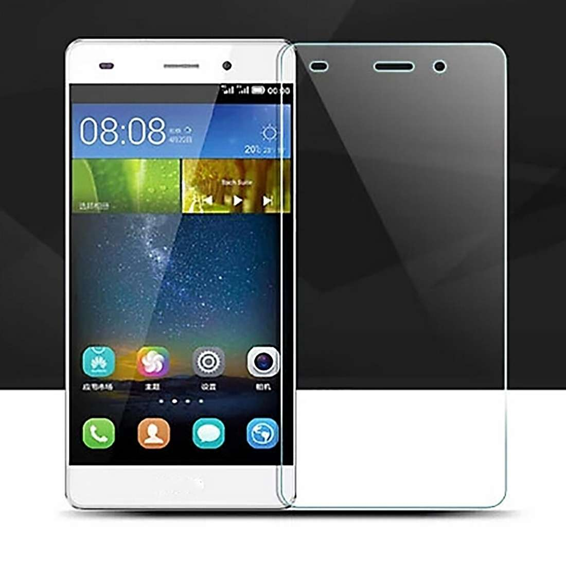 Premium Real 9H Scratch-resistant 0.26mm Ultra-thin Tempered Glass Screen Protector For Huawei Ascend P8 Lite