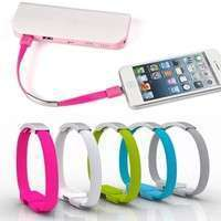 PVWL-1Pc Bracelet Wrist Band USB Charging Charger Data Sync Cable Cord For IPhone Android Smartphone