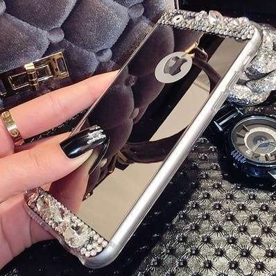 Phone Cases for Iphone5/5s/6/6Plus Mobile Phone Shell Plating Mirror Shell Silicone Waterproof protection Case Cover TT-025