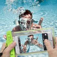 Pb9e-Transparent PVC Luminous Waterproof Phone Case Cover For Iphone 3 4 4s 5 5s 5C 6 Water Proof Underwater Bag For Phone6 All Mobile Phone
