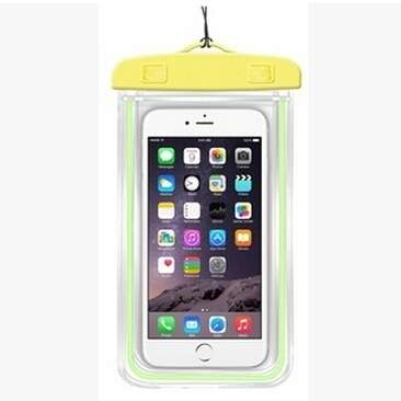 Transparent PVC Luminous Waterproof Phone Case Cover for iphone 3 4 4s 5 5s 5C 6 Water Proof Underwater Bag for Phone6 All mobile Phone-3