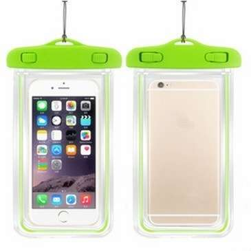 Transparent PVC Luminous Waterproof Phone Case Cover for iphone 3 4 4s 5 5s 5C 6 Water Proof Underwater Bag for Phone6 All mobile Phone-5
